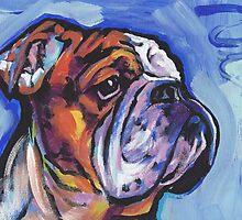 English BullDog Bright colorful pop dog art by bentnotbroken11