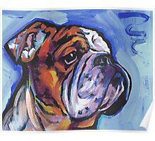 English BullDog Bright colorful pop dog art Poster