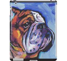 English BullDog Bright colorful pop dog art iPad Case/Skin