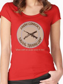 Sarah Connor's Survival Training Camp Women's Fitted Scoop T-Shirt