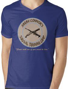 Sarah Connor's Survival Training Camp Mens V-Neck T-Shirt