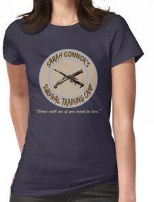 Sarah Connor's Survival Training Camp Womens Fitted T-Shirt