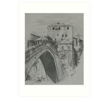 Old Bridge ,Mostar Art Print