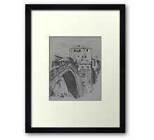 Old Bridge ,Mostar Framed Print