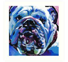 English BullDog Bright colorful pop dog art Art Print