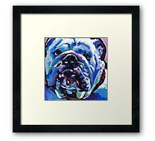 English BullDog Bright colorful pop dog art Framed Print