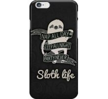 Sloth's Life iPhone Case/Skin
