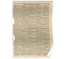 (PAGE 3) PORTLAND TRANSCRIPT, AUG.27, 1853 Poster