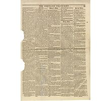 (PAGE 3) PORTLAND TRANSCRIPT, AUG.27, 1853 Photographic Print