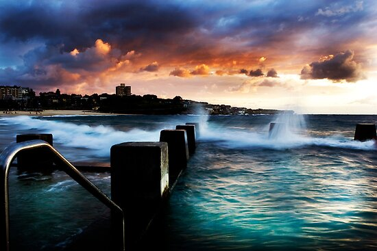 Coogee Pool at Dawn by Eleanor Godley