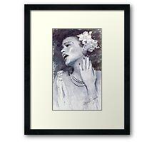 Jazz Billie Holiday Framed Print