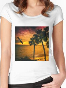 New Year in Florida Women's Fitted Scoop T-Shirt