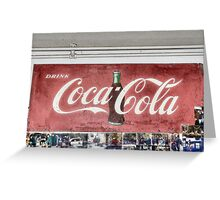 Coke Sign at Tom and Mabel's Greeting Card