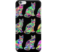 Colorful Cats 5 iPhone Case/Skin