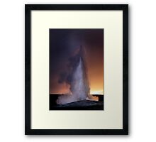 Old Faithful at Sunset Framed Print