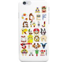 Super Mario Alphabet iPhone Case/Skin