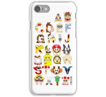 Super Mario Alphabet iPhone Case/Skin
