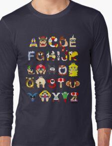 Super Mario Alphabet Long Sleeve T-Shirt