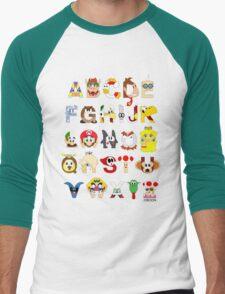 Super Mario Alphabet Men's Baseball ¾ T-Shirt