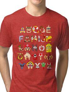 Super Mario Alphabet Tri-blend T-Shirt