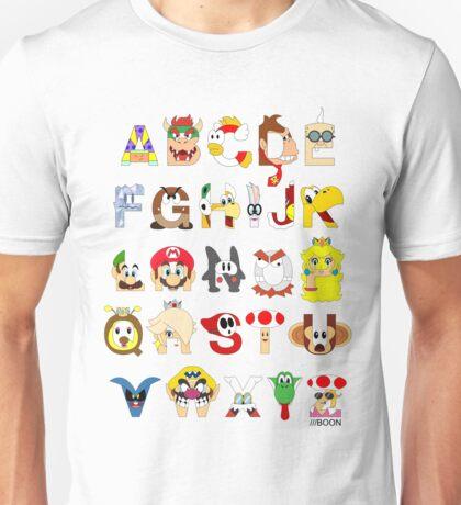 Super Mario Alphabet Unisex T-Shirt
