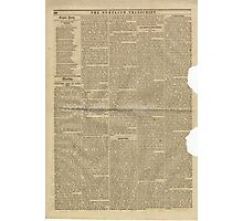 (PAGE 4) PORTLAND TRANSCRIPT, AUG.27, 1853 Photographic Print