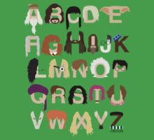 Harry Potter Alphabet Baby Tee