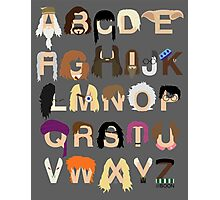 Harry Potter Alphabet Photographic Print