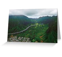 H3 And Ko'olau Range Greeting Card