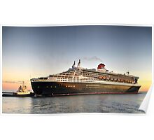 Queen Mary 2 Arrival Poster