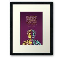 Marcus Aurelius quote: The Power to Revoke Framed Print