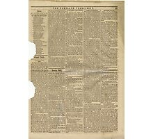 (PAGE 5) PORTLAND TRANSCRIPT, AUG.27, 1853 Photographic Print