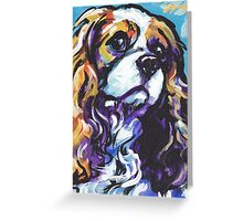 cavalier king charles spaniel Dog Bright colorful pop dog art Greeting Card