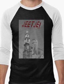 Jeetje! A dinosaur attacking Amsterdam Men's Baseball ¾ T-Shirt