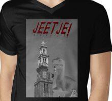 Jeetje! A dinosaur attacking Amsterdam Mens V-Neck T-Shirt