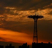 CONEY ISLAND PARACHUTE JUMP by KENDALL EUTEMEY