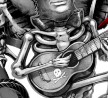 Rock N Roll Lincoln Drawing Sticker