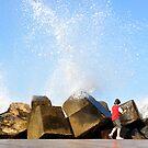 RANDOM KID WALKING BY OCEAN by niki78