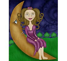 Sitting on the Moon Photographic Print