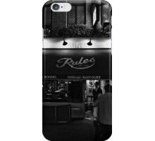 Rules - Oldest Restaurant in London - B&W iPhone Case/Skin