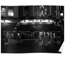 Rules - Oldest Restaurant in London - B&W Poster