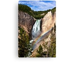 Yellowstone River At  The Lower Falls Canvas Print