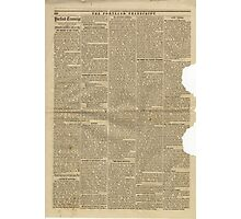 (PAGE 6) PORTLAND TRANSCRIPT, AUG.27, 1853 Photographic Print