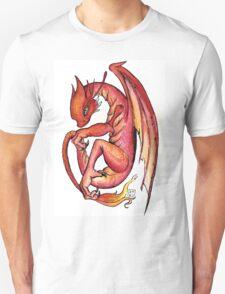 Dragon orange red yellow - I'm a dragon T-Shirt