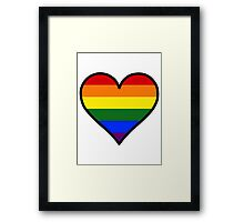 Homosexual Heart in Black Framed Print