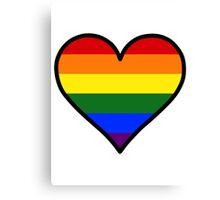 Homosexual Heart in Black Canvas Print