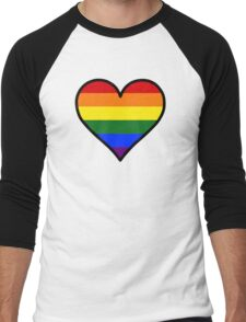 Homosexual Heart in Black Men's Baseball ¾ T-Shirt