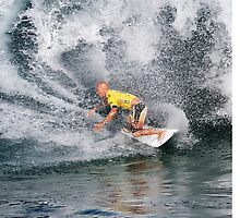 Kelly Slater.3 at 2010 Billabong Pipe Masters In Memory Of Andy Irons by Alex Preiss