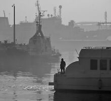 Ships in shades of grey by awefaul