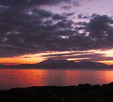 Sundown over Arran by Fe Messenger